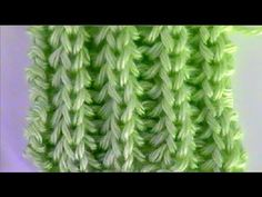 Brioche Stitch Scarf en 2 agujas o palitos Knitting Stiches, Knitting Videos, Crochet Videos, Knitting For Beginners, Lace Knitting, Knitting Projects, Crochet Stitches, Tricot Maille Double, Stitch Patterns