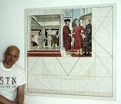"""Il dipinto all' interno del """"Calendario Cristo-Piero"""" di 104x104,5 cm."""