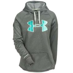 Under Armour Sweatshirts: 1246825 090 ColdGear Storm UA Rival Women's Carbon Heather Hoodie