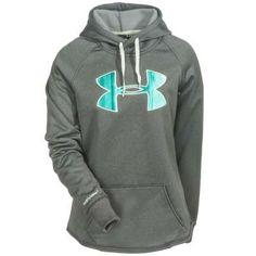 Under Armour Sweatshirts: 1246825 090 ColdGear Storm UA Rival Women's Carbon Heather Hoodie
