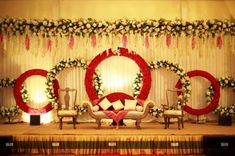 Mesmerize your guests with the charm of these engagement stage decorations ideas. Discover about the latest Engagement Stage Decoration Ideas with this post. Wedding Stage Decorations, Engagement Stage Decoration, Reception Stage Decor, Wedding Stage Backdrop, Wedding Stage Design, Marriage Decoration, Backdrop Decorations, Flower Decorations, Wedding Mandap