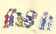 Mo meets the Pikmin by ~who-stole-MY-name on deviantART