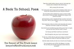 A Back To School Poem Keeper of The Fruit Loops