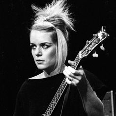 Tina Weymouth, second most crazy member of Talking Heads and queen of angle plumage