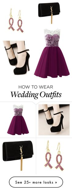 """""""Wedding guest"""" by daisydaisyj on Polyvore featuring West Coast Jewelry and Yves Saint Laurent"""