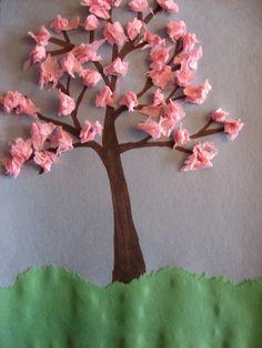 Crafts for Kids Spring Crafts For Kids, Diy Crafts For Kids, Fun Crafts, Art Drawings For Kids, Art For Kids, Hedgehog Craft, Cherry Blossom Art, Spring Tree, World Crafts