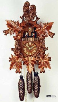 Amazon.com: German Cuckoo Clock 8-day-movement Carved-Style 20 inch - Authentic black forest cuckoo clock by Rombach & Haas: Home & Kitchen