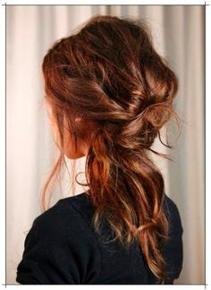 love this hair. messy cool.