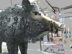 Jean Christophe Montiel, sculpteur sur tôle et Artiste Ideel ! Jean Christophe, Oeuvre D'art, Les Oeuvres, Horses, Animals, Artist, Animales, Animaux, Animal