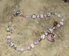Pink beaded Necklace by cassiesliltreasures on Etsy, $25.00