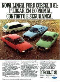 Ford Corcel II Lineup - adv Brasil (1981)