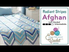 How to Crochet A Wave Afghan: Radiant Stripes Left Handed