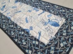 Asian Inspired Quilted Table Runner by MoonDanceTextiles on Etsy