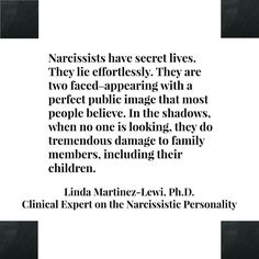 Narcissists double lives