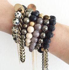 stack 'em // #kayandjobracelets #armparty #bracelets #beadedbracelets #handmadejewelry #jewelry www.kayandjo.com