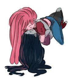 • Adventure Time art Bubbline Marceline Princess Bubblegum My art Fanart fandomslutcakes •