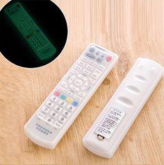 방수 TV 원격 제어 형광 먼지 커버 실리콘 에어컨 보호 스토리지 가방 주최자 아이템 액세서리
