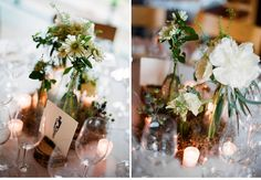 These clusters are lovely.  A Rustic Bohemian New York Wedding: Stephanie + Ben