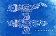 Firefly Serenity Blueprint Art of Firefly Class by BigBlueCanoe