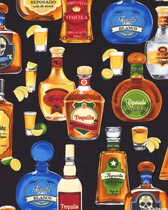 Cheers - Tequila Tasting - Quilt Fabric from www.eQuilter.com