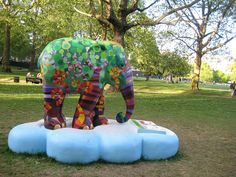Elephant Parade is a conservation campaign that shines a multi-coloured spotlight on the urgent crisis faced by the endangered Asian elephant. Over 250 brightly painted life-size elephants are located over central London this summer 2010.