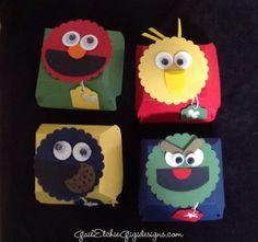 Stampin' UP! Hamburger Bigz Die Boxes Meet Sesame Street! - Gail Etchie For Gigi Designs