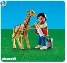 Baby Giraffe with Zookeeper, $4.99