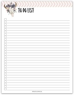 FREE PRINTABLE! Keep track of all your tasks with this free printable To Do List. Click to download.