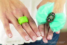Here's proof that tulle is the chameleon of fabrics—it can go big or play it down! Learn how to make an abundance of tulle jewelry with our tutorial!