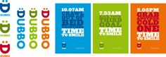 Dubbo's City brand has three key elements: the D smile, the slogan 'time to', and the pop art design.