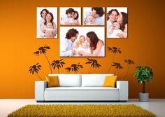 1 (16x24) + 2 (11x11) + 2 (16x10) Inch Panels Family Portrait: $114.99 #canvas #art #print #Home #photo