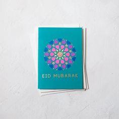 Kaghuz handmade and customized products Eid Greeting Cards, Eid Cards, Compass Art, Eid Greetings, Eid Mubarak, Islamic Art, Blue Gold, Geometry, Card Stock