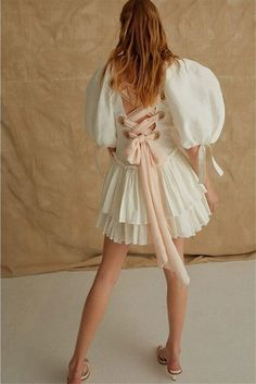 The Dress, Dress Skirt, Ruffle Dress, Little Presents, Frilly Dresses, Resort Dresses, Dresses With Sleeves, Short Sleeves, Puffed Sleeves