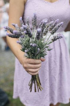 Lovely lavender | Photography: Kate Preftakes Photography - preftakesphoto.com  Read More: http://www.stylemepretty.com/2015/04/24/homespun-backyard-new-hampshire-wedding/