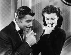 "Rhett Butler/ Clark Gable in Gone With te Wind. ""Frankly, my dear, I don't give a damne"". (1933)"