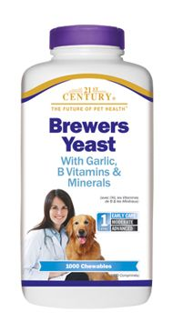 A great source of B vitamins, trace minerals, and amino acids, many people give dogs Brewers Yeast  to boost immunity, improve coat health and help repel fleas.     Brewers Yeast for Dogs- 21st Century Pet Health 500ct/$7.99 1000ct/$14.99 http://www.21stcenturypet.com/product-dog.asp?i=1001=1