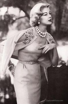 1958 Jean Patchett Beaded Sweater