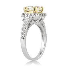 3.09ct Fancy Yellow Cushion Cut Diamond Engagement by MarkBroumand