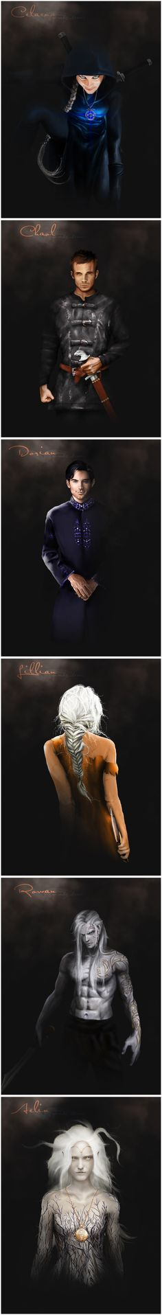 Throne of Glass characters by @uponadaydreamer. Fan art, all the way!