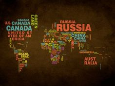 Mapa Mundi Nomes
