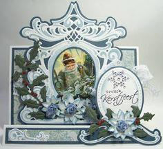 hobbyvoordelig Blog: Demonstratie door Anja Zom Die Cut Christmas Cards, Christmas 2015, Xmas Cards, Marianne Design Cards, Handmade Card Making, Handmade Cards, Die Cut Cards, Winter Cards, Craft Projects