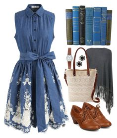 """""""Book club"""" by jess-r-d ❤ liked on Polyvore featuring Chicwish, Armani Collezioni, Mudd, 1928, comfort, autumn, books and READ"""
