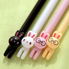Rabbit pen Cute pen Cartoon pen Gel pen by PokemonGarden on Etsy