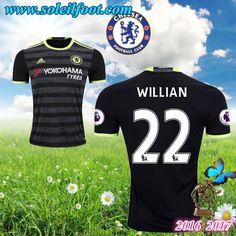 Maillot Du FC Chelsea (WILLIAN 22) Exterieur 2016-2017 Pas Cheres