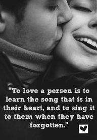 To love a person...