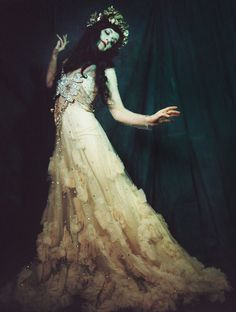 """""""The Sorceress"""", Sarah Sophie Flicker~Gown by Reem Acra, Photograph by Shae DeTar © 2014"""