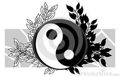 Image representing a colorful amazing tao on a floral decoration