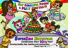 Celebrating 10 Fabulous Years! Check out our healthy eating tips, informative nutrition articles, tasty recipes, fun Super Crew kid's activities and adorable children's book suggestions at SuperKids Nutrition