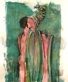 Grafica y Dibujo: abrazo verde