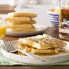 Light and Fluffy Waffles Recipe -These melt-in-your-mouth waffles are so tender, you can skip butter and syrup. (But why would you want to?) —James Schend, Food Editor, <i>Taste of Home</I> magazine, Milwaukee, Wisconsin
